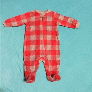 NEW Red and grey flannel sleeper